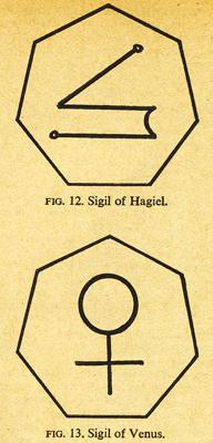 Sigil de la reine Hagiel et Sigil de Vénus