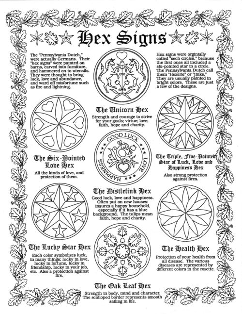 pennsylvania dutch hex sign coloring pages - photo #33